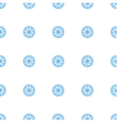 Camera shutter icon pattern seamless white vector