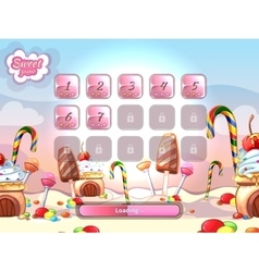 cartoon fairy tale candy background vector image