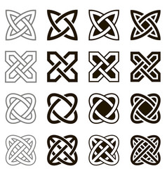 Celtic knots set of icons vector