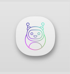 chatbot app icon vector image