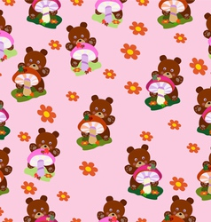 Children seamless Bears for girls vector image