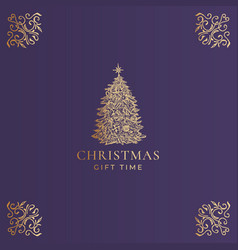 Christmas abstract classy label logo or vector