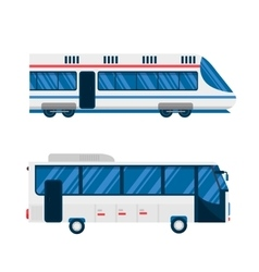 City bus and train subway vector image