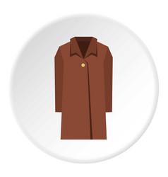 Coat icon circle vector