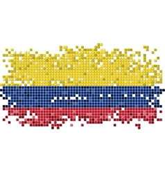 Colombian grunge tile flag vector