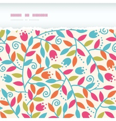 Colorful Branches Horizontal Torn Frame Seamless vector image
