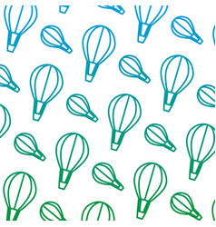 Degraded line air balloon transport fly background vector