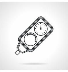 Diver console black line icon vector image