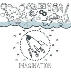 Doodle icon design imagination icon draw concept vector