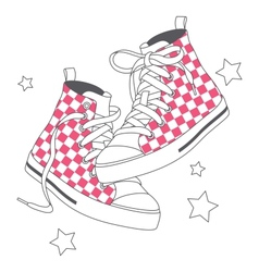 Fashion sneakers vector