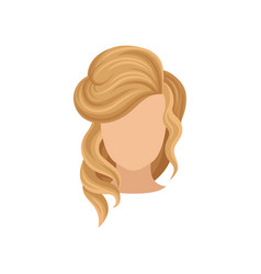 female head with blond hair stylish women s vector image