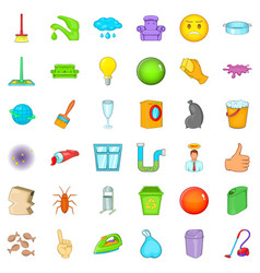 General cleaning icons set cartoon style vector
