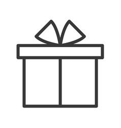 Gift box merry christmas theme set outline vector