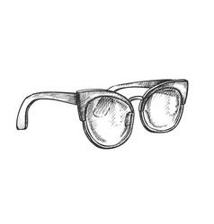 Glasses fashion correction accessory retro vector