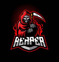grim reaper gaming logo vector image