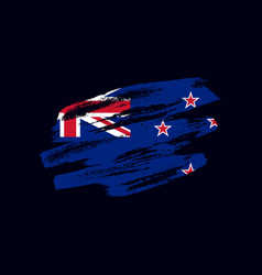 Grunge textured new zealander flag vector