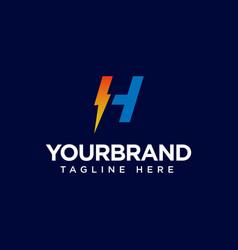 H logo initial letter design template vector