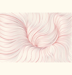 Hand drawn abstract pink gold floral lined vector