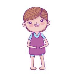 happy little boy cartoon character children vector image