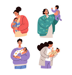 happy parents mothers and fathers holding baby vector image