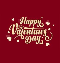 happy valentines day calligraphic text vector image