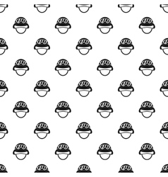 Helmet with goggles pattern simple style vector image