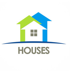 houses arrow logo vector image