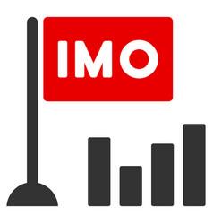 Imo bar chart flat icon vector