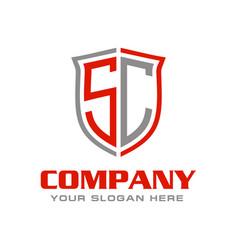Initial letter sc logo design vector
