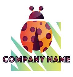 ladybug modern logo design on a white background vector image