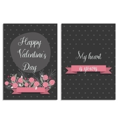 Love collection with 2 cards Templates for vector image