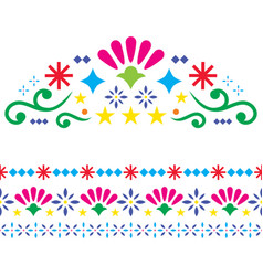 mexican-patterns-greeting-card-design-elements vector image