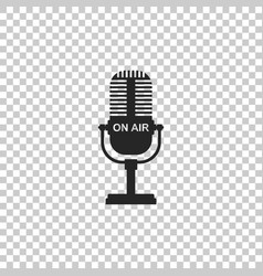 microphone icon isolated on transparent background vector image