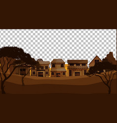 old town village on transparent background vector image