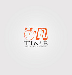 On time logo template logo for business corporate vector