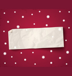 paper banner vector image