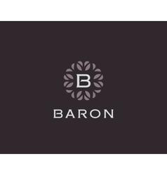 Premium monogram letter B initials logo Universal vector image
