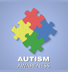 Puzzle autism awareness vector