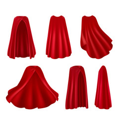 red robes realistic set vector image
