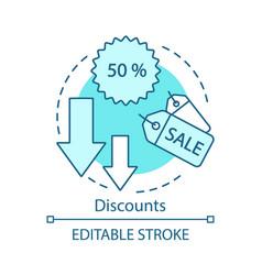 Referral discounts concept icon marketing idea vector
