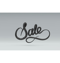 Sale Sign 3D lettering vector
