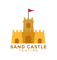 Sand castle graphic design element vector
