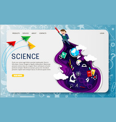 science website landing page design vector image