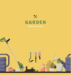 seamless pattern and label for garden vector image