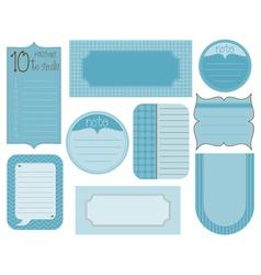 set design elements - vintage frames and tags vector image