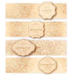 set of ethnic ornament banners concept vintage vector image