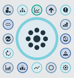 Set of simple chart icons vector