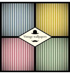 Set of vintage striped patterns vector image
