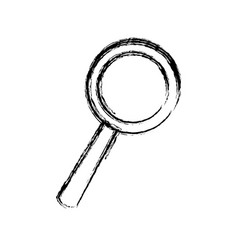 Sketch magnifier search loupe investigation icon vector