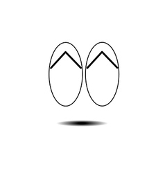 slippers icon vector image
